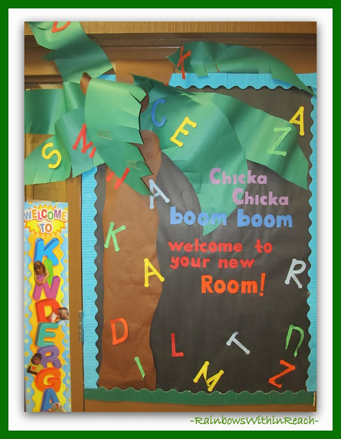 Chicka Chicka Boom Boom Bulletin Board for Back to School at RainbowsWithinReach
