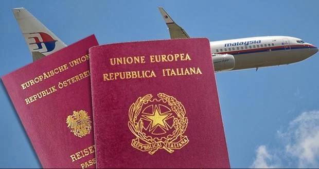 Dos pasajeros del avión de Malasya Airlines viajaban con pasaportes robados