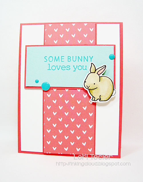 Some Bunny Loves You card-designed by Lori Tecler/Inking Aloud-stamps and dies from Lawn Fawn