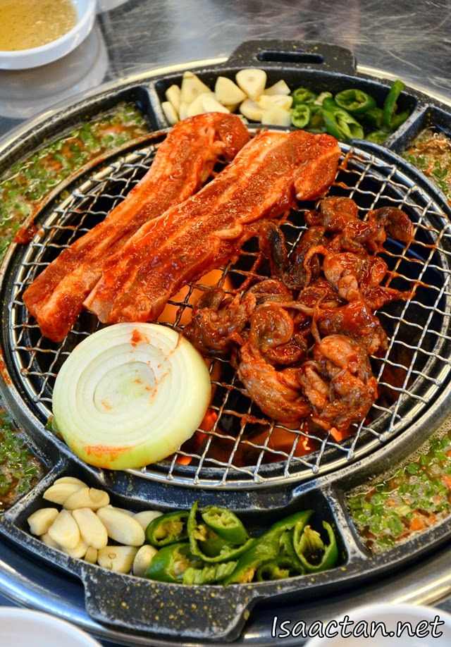 Some of the delicious BBQ meat at Sae Ma Eul Korean (새마을 BBQ) Restaurant @ PV128 Setapak