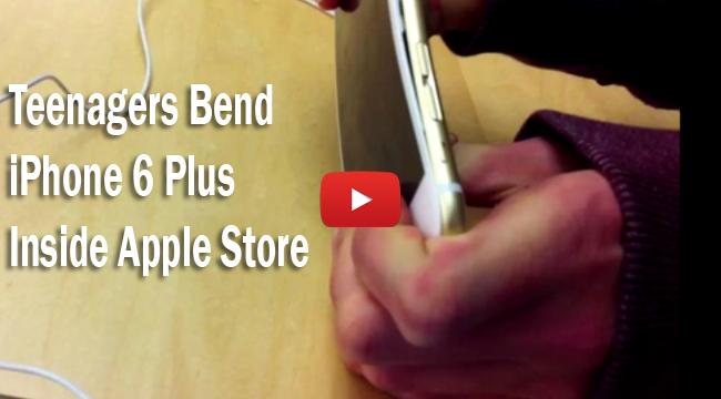 Watch Video of Teenagers Bend iPhone 6 Plus Inside Apple Store