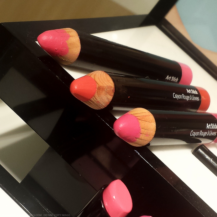 Bobbi Brown Kate Upton Hot Art Sticks Pink Berry Orange Spring 2015 Makeup Collection Photos