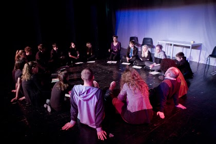 Farringdon School post-performance review, photograph taken by Chris Auld