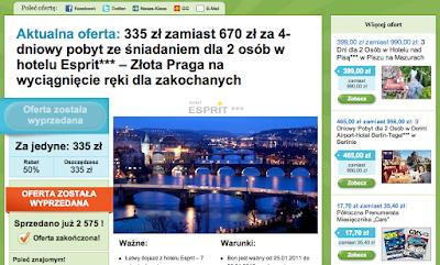 Oferta kuponu rabatowego na Groupon.pl
