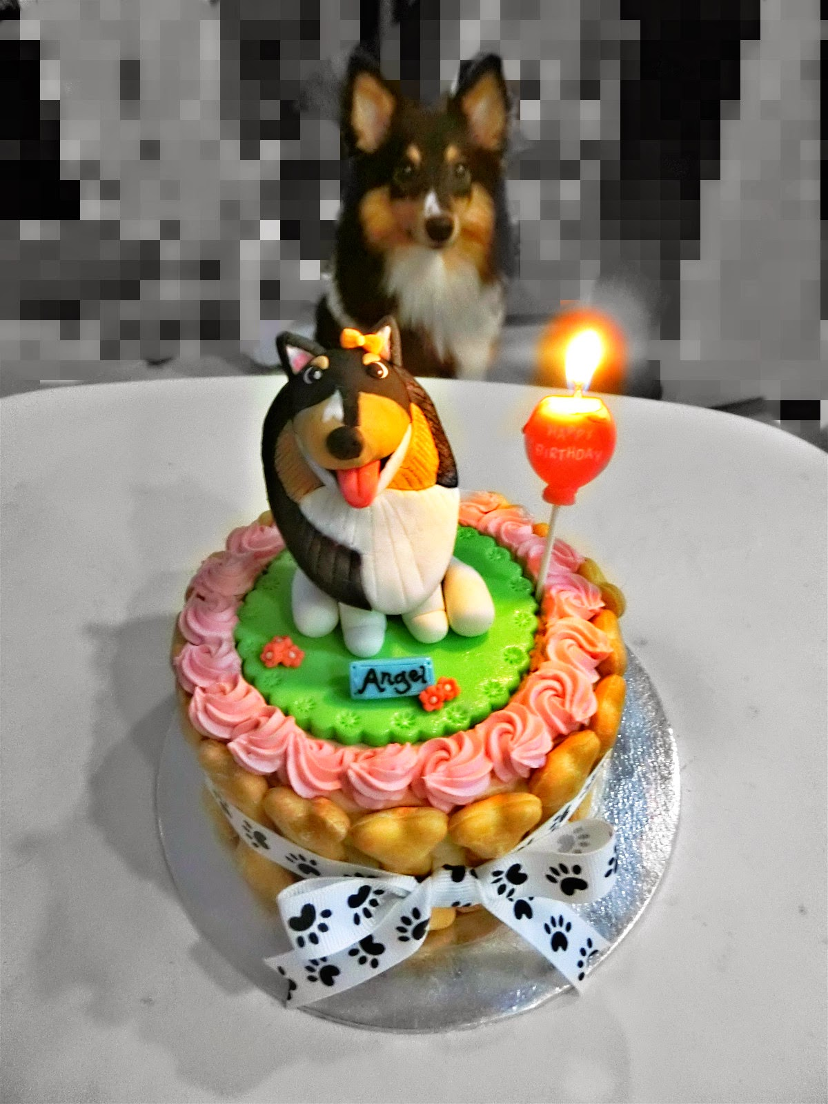 The Birthday Cake We Ordered Are From Pawoof Which They Can Make Very Cute And Especially Figurine Looks Like Angel Wish Her Healthy Happy