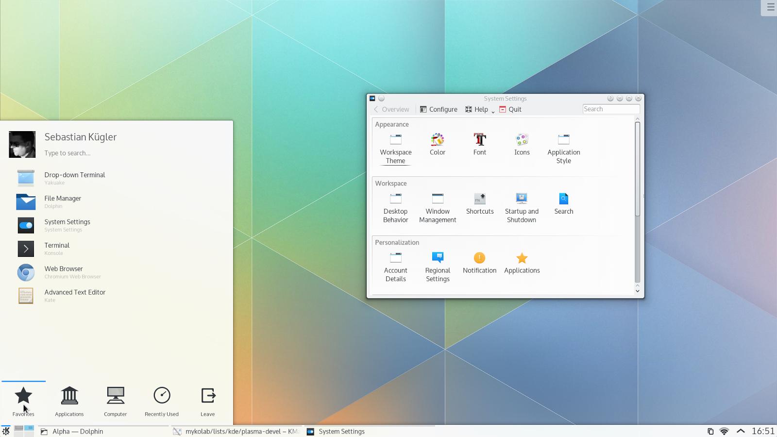 Google theme kde - Kubuntu Plasma 5 Themes