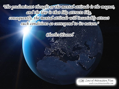 Free Law of Attraction Wallpaper with a Quote by Charles Haanel