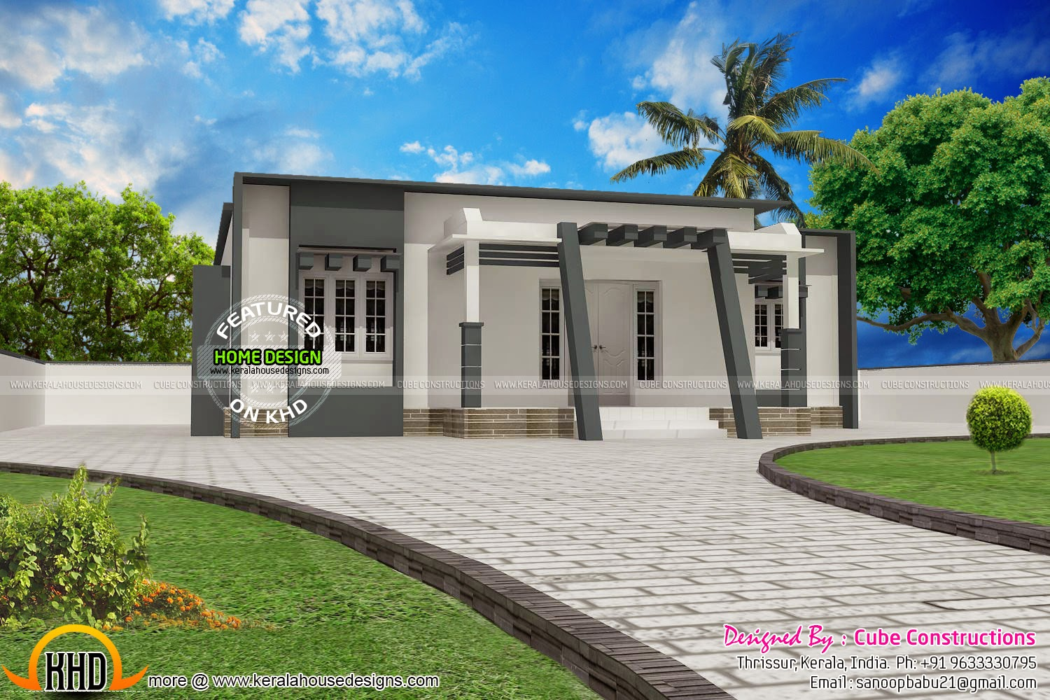 Small budget contemporary house kerala home design and for Small budget house plans in kerala