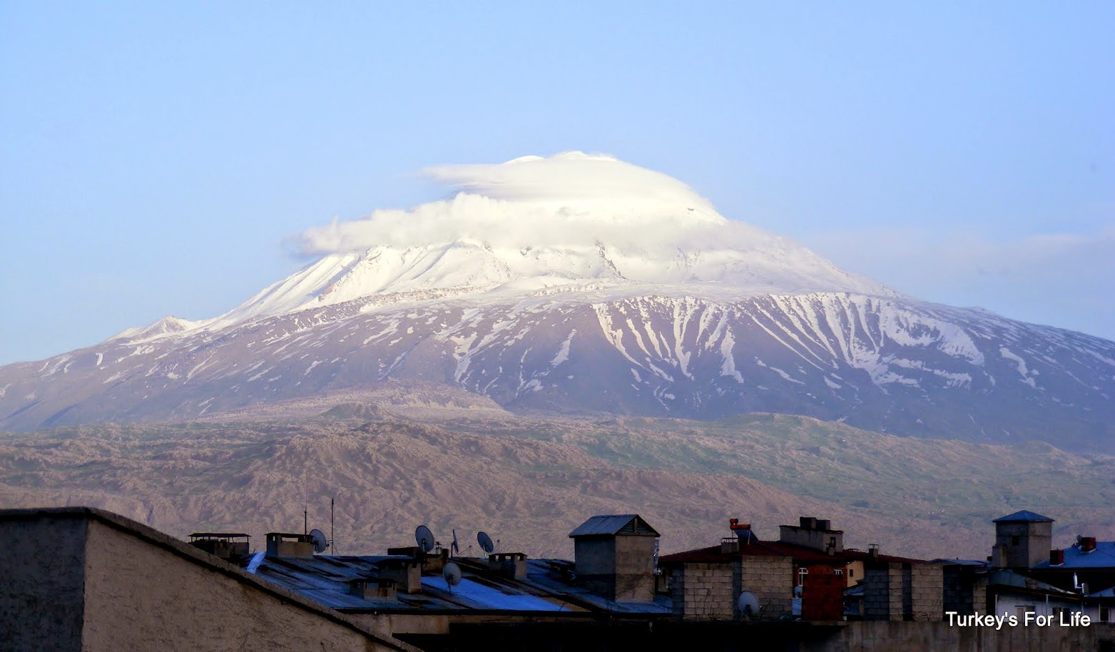 Ararat Mountain (Ağrı Dağı) From Iğdır, East Turkey
