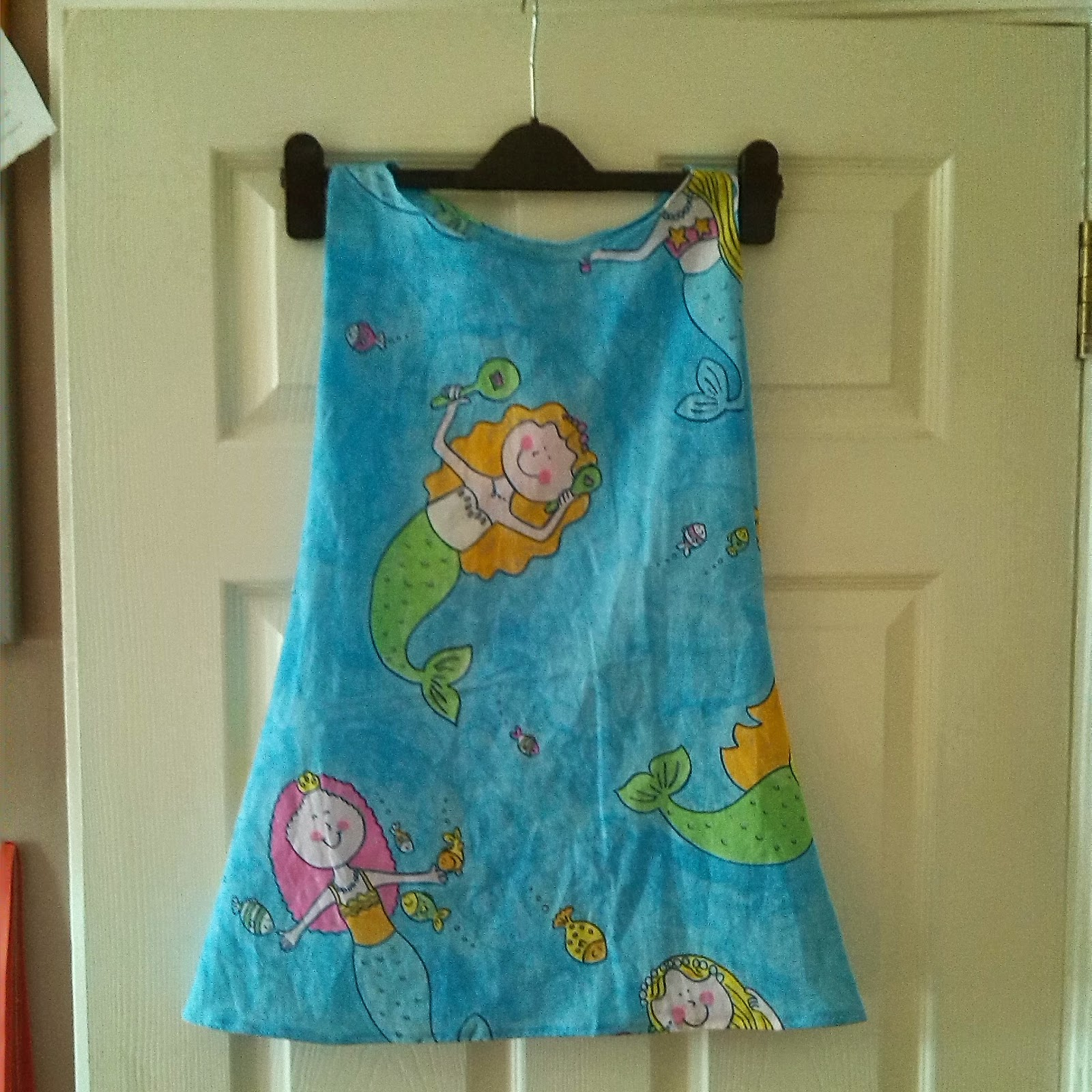 Upcycled girls mermaid dress