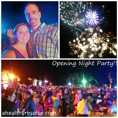 So much fun at the opening night celebration! Lots of fun, food, dancing and fireworks! - 2015 Success Club Trip