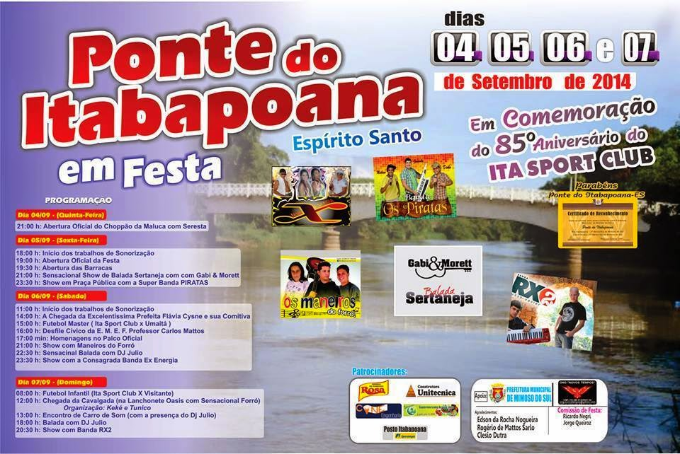 Cartaz da Festa de Ponte do Itabapoana
