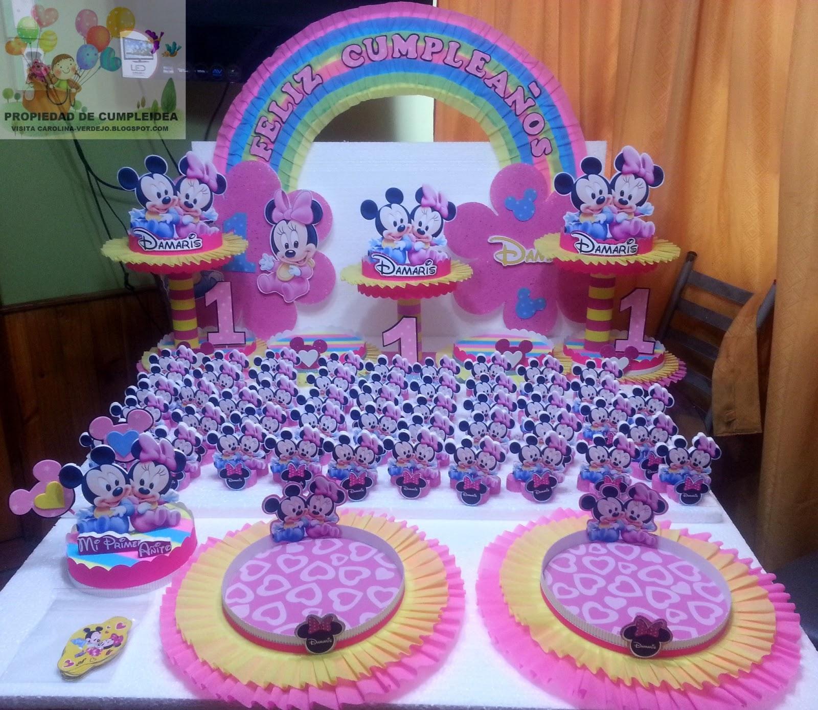 Decoraciones infantiles minnie y mickey bebe - Decoraciones para bebes ...
