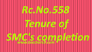 Rc.No.558-Tenure of SMC's completion and Alternative arrangements for release of funds