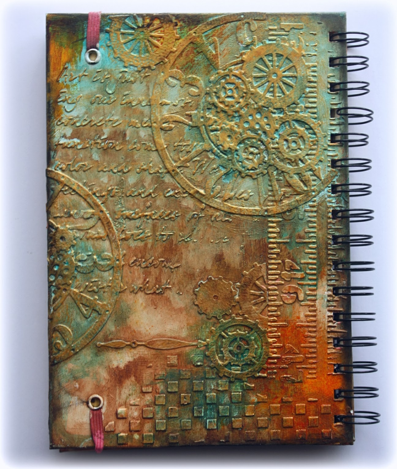Vintage Book Cover Photo Tutorial : Such a pretty mess video tutorial steampunk journal