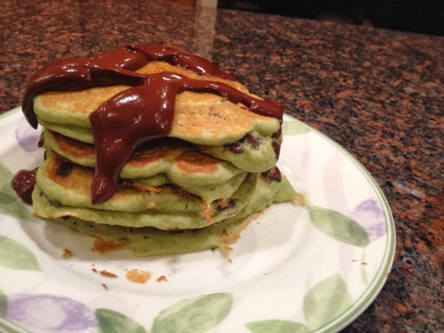 vegan mint chocolate chip pancakes