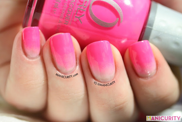 Manicurity | Neon Pink Dip Dye-inspired gradient