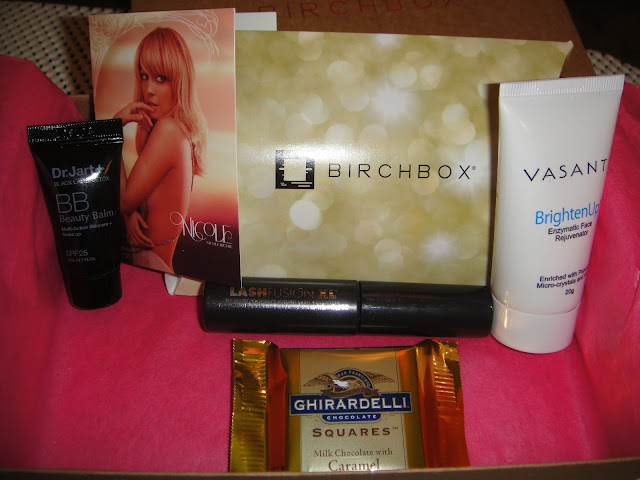 Vasanti Brighten Up! Enzymatic Face Rejuvenator, LashFuison XL Mascara, Nicole Richie Fragrance: Nicole, Dr. Jart+ Black Label Detox BB Beauty Balm , Dr Jart, Birchbox, february birchbox, birchbox 2013, birchbox february 2013
