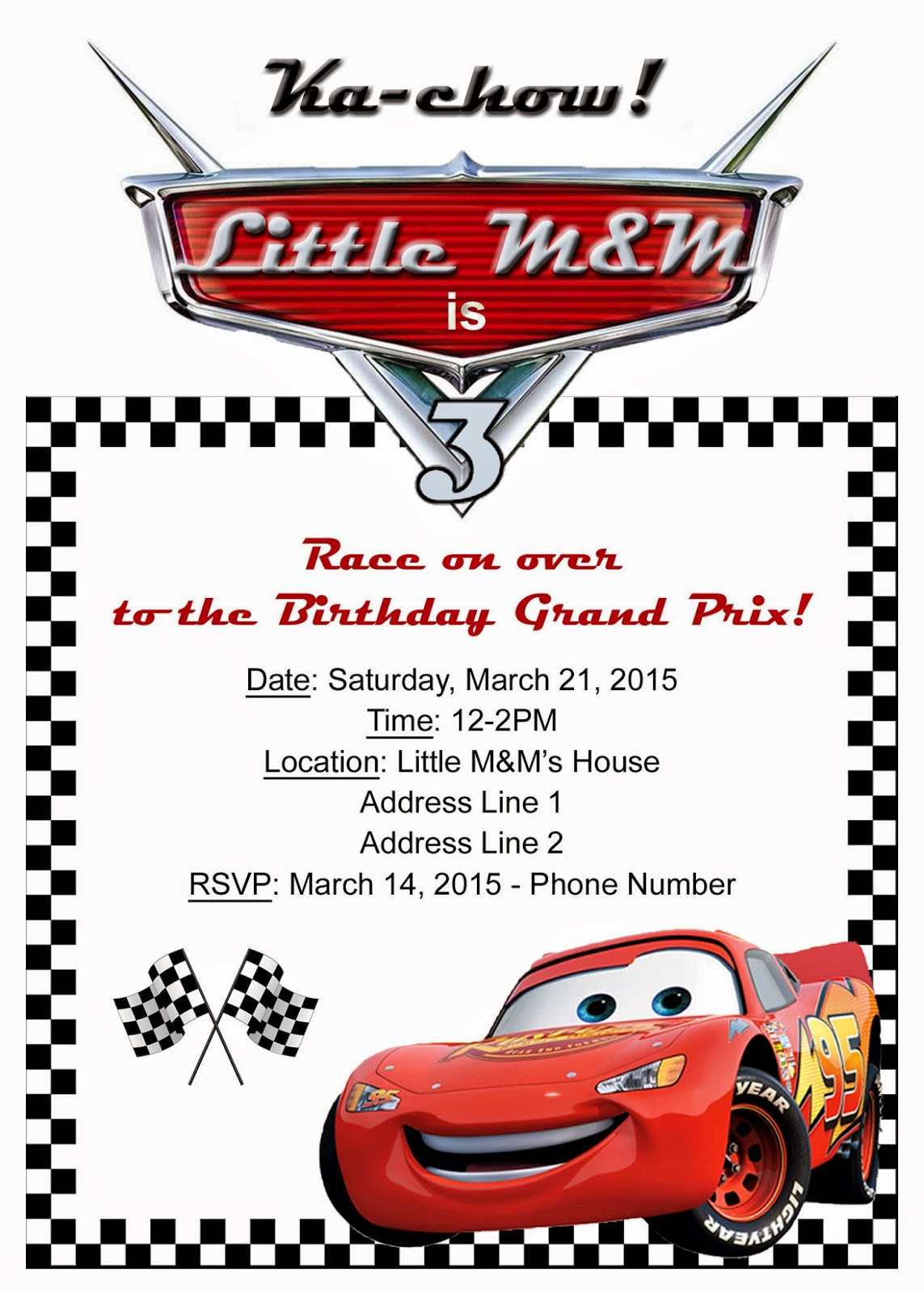 Mom\'s Tot School: Race Car / Cars Birthday Party!