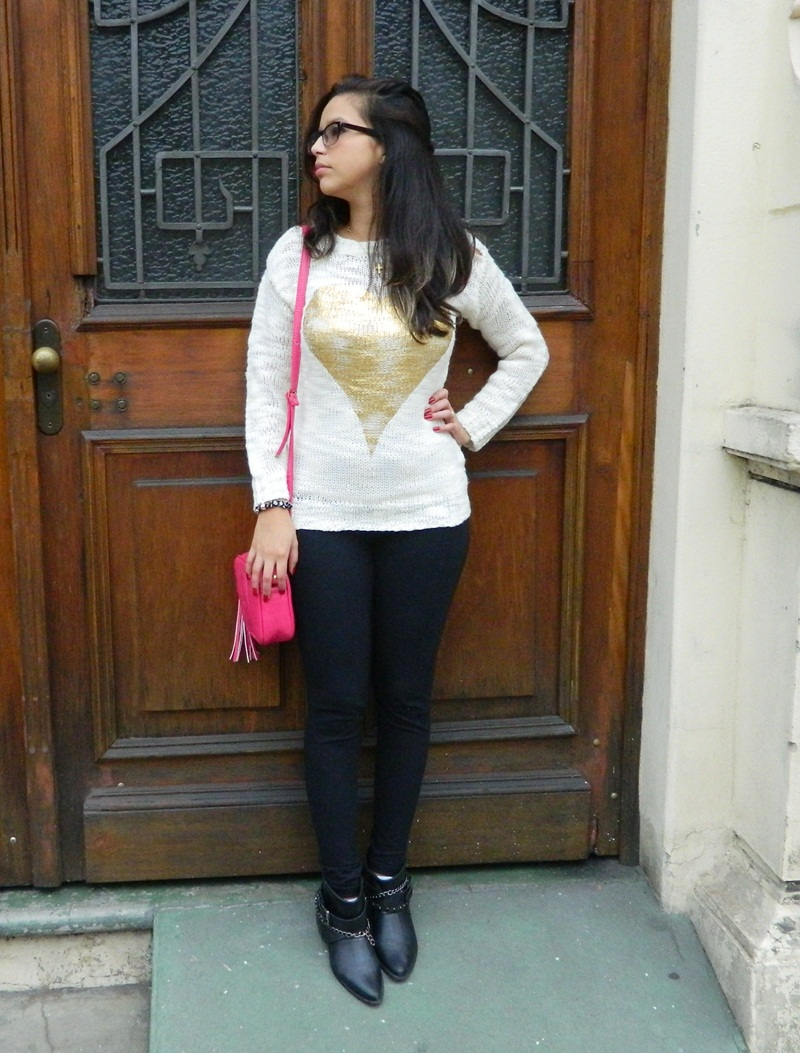 Look do dia - Blusa tricô e botinha