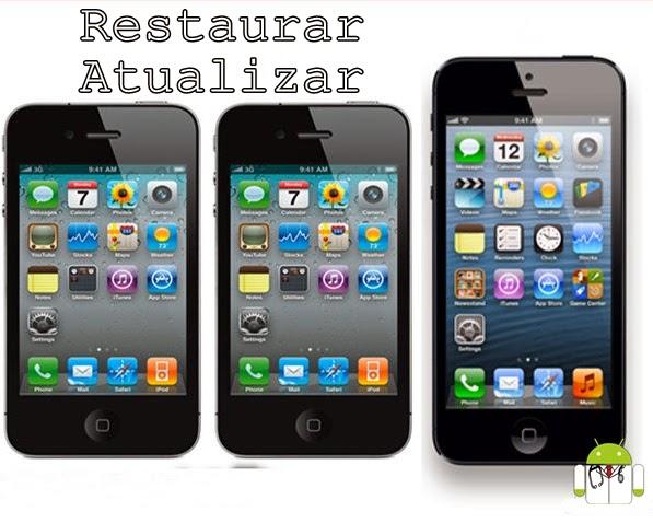 como restaurar y actualizar iphone 5