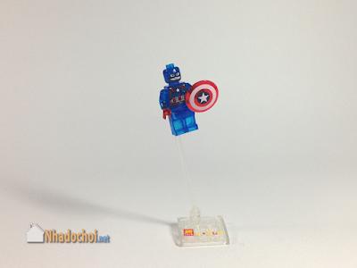 Lego giả mô hình siêu anh hùng Captain America