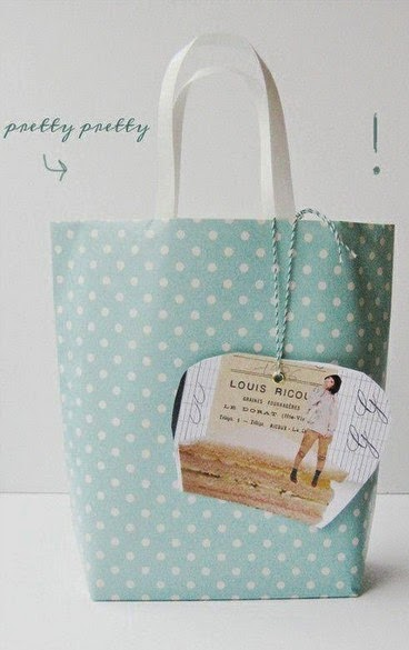 Como hacer una bolsa con papel de regalo portal de - Hacer bolsas de papel para regalo ...