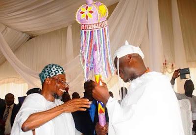 ooni of ife coronation Aregbesola