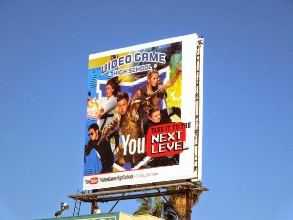Video Game High School season 3 You Tube billboard