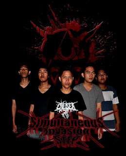 Simultaneous Invasion Step Band Deathcore Samarinda Kalimantan Timur Indonesia Foto Logo Artwork Cover Wallpaper