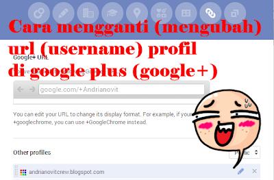 Cara mengganti username profil di google plus (google+)