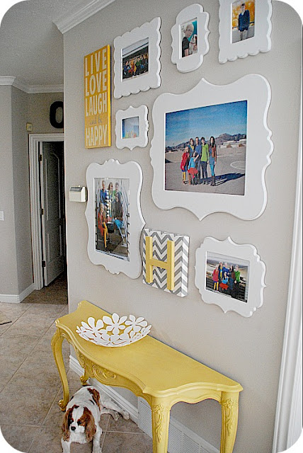 white picture frame display