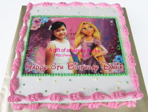 Birthday Cake Edible Image Rapunzel Ai-sha Puchong Jaya