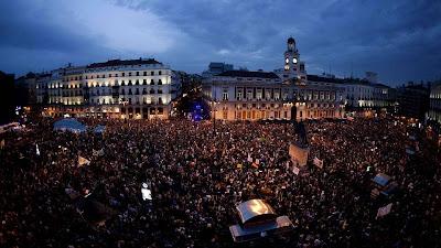 Primer aniversario del 15-M en Sol en Madrid, 2012