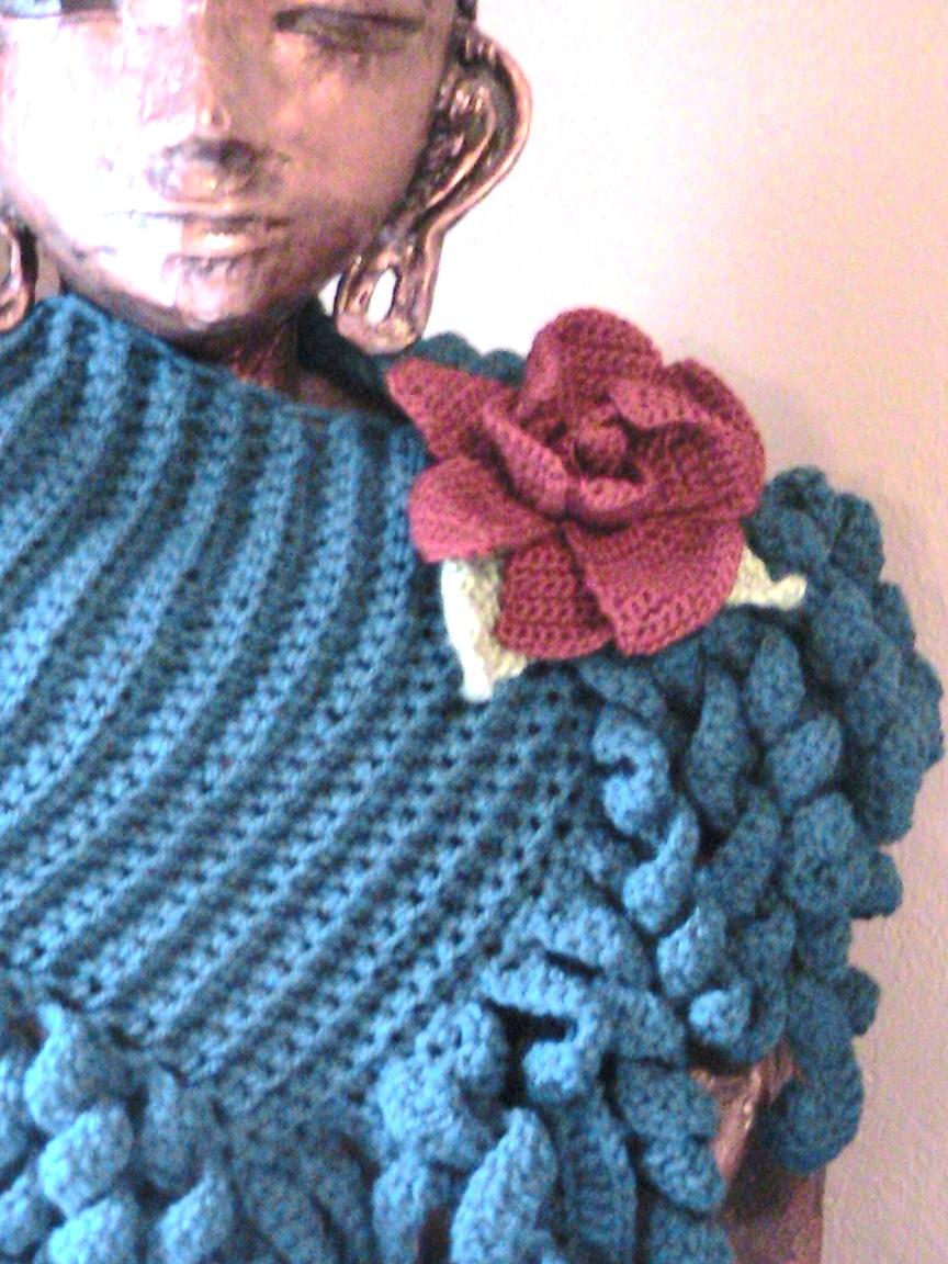 шарф cпиралька крючком схема