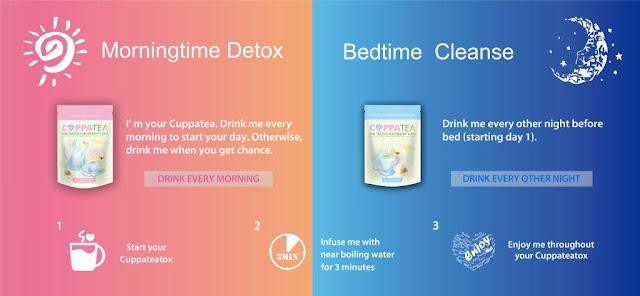 cara kurangkan berat badan dengan teh, cuppatea 14 day teatox