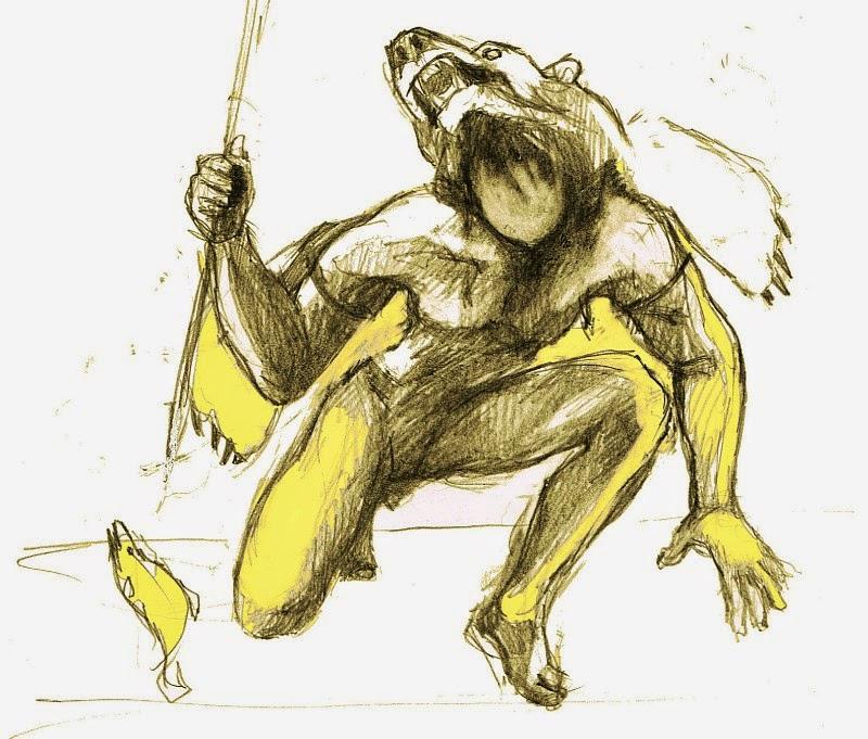 Bär Agrios Skizze Zeichnung Bilderserie