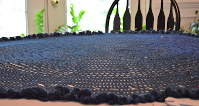 simple lace pi shawl, knit with Tanis Fiber Arts Midnight lace weight merino