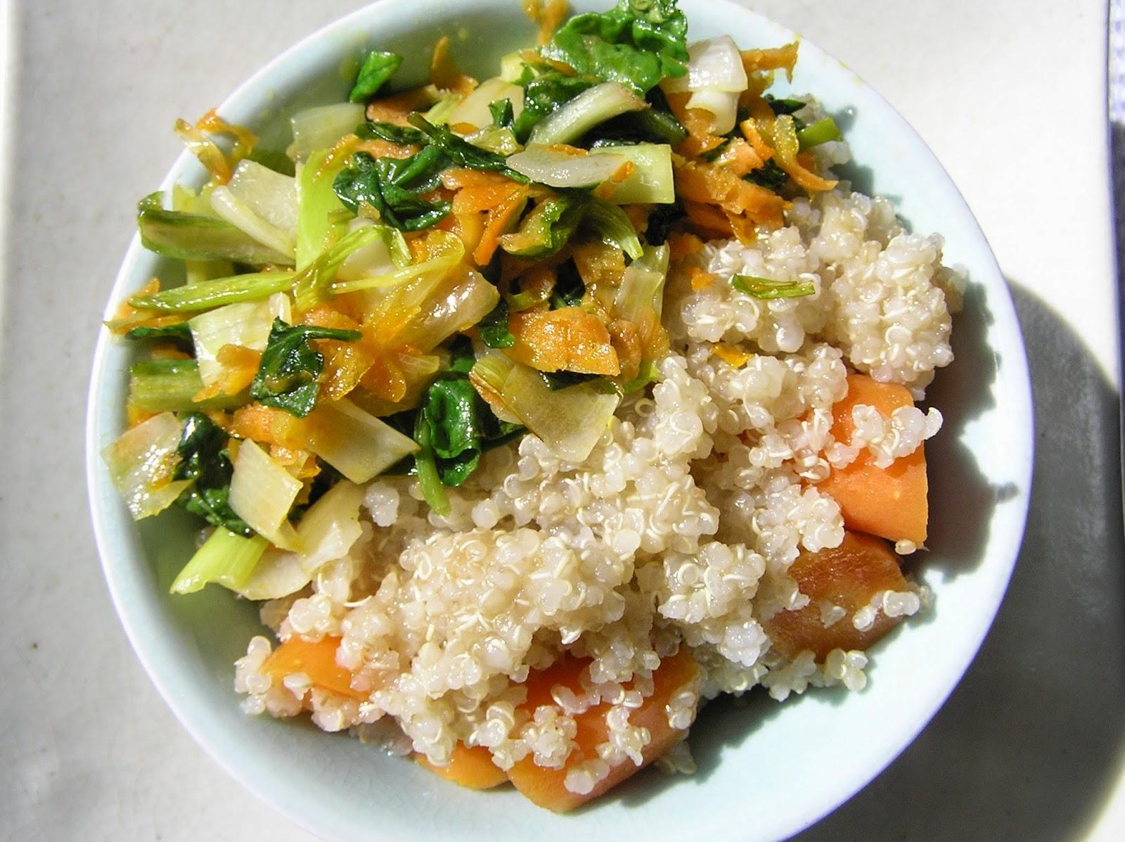 Macrobi tica ngela recetas originales y otras quinoa con for Cocina quinoa con verduras