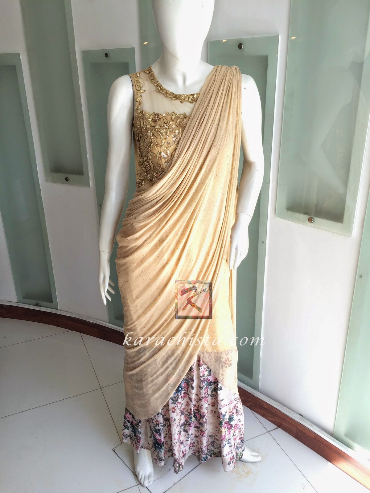 Sari by Indian designer Nishi Mehra at Ensemble Karachi
