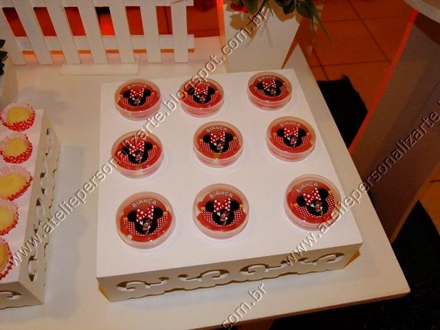 Marcadores Aniversários , Decoração de Festas , Minnie Vermelha