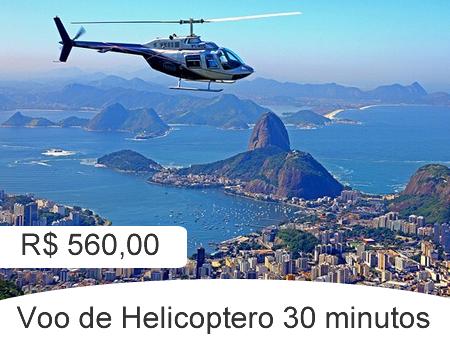 30 minutos de voo de helicóptero no Rio sobre os principais pontos da cidade