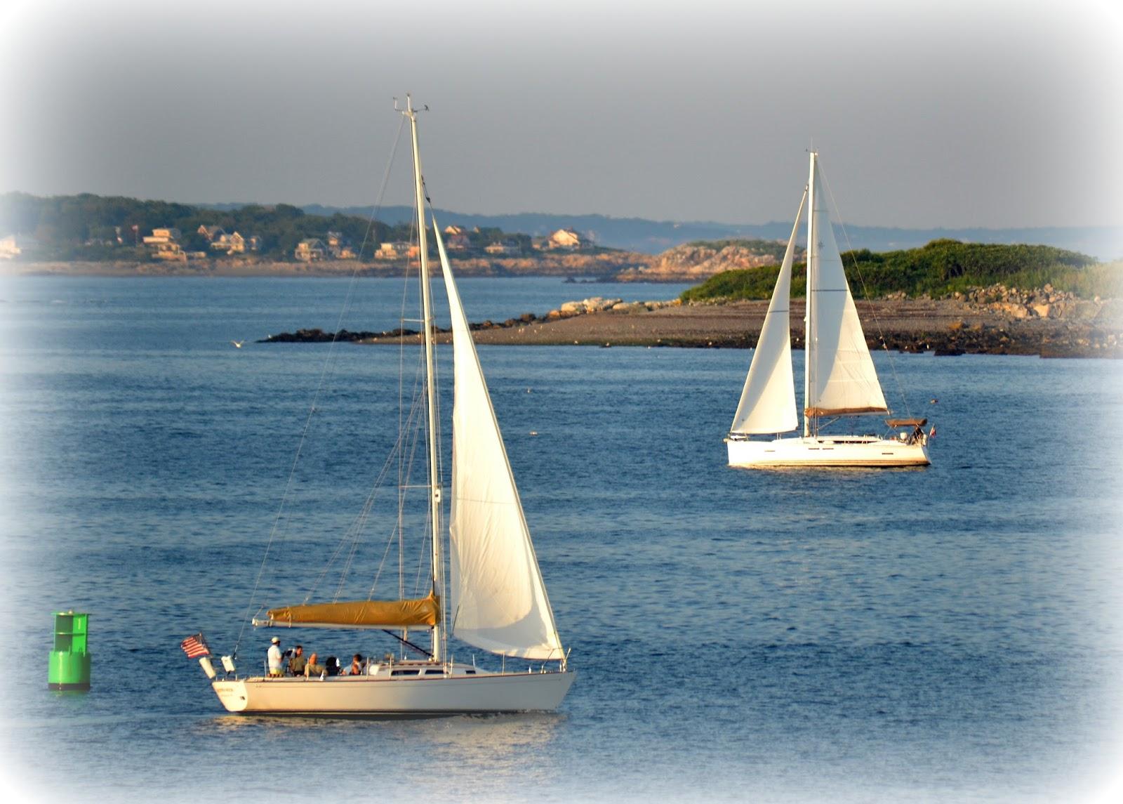 sailing, boats, island, buoy, summer, wind, peaceful
