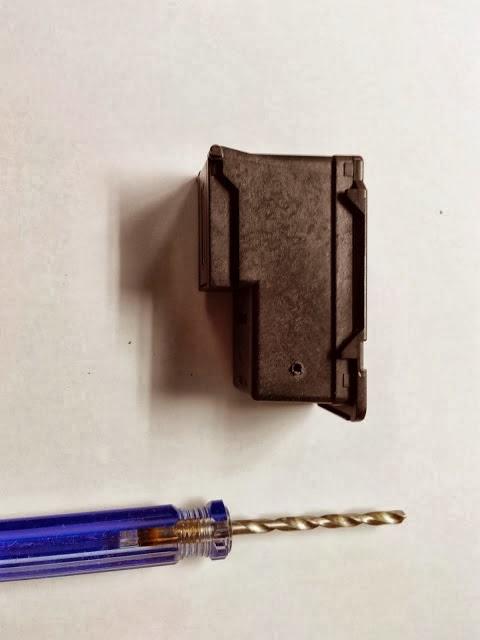 cartucho negro pg-145 con perforación terminada