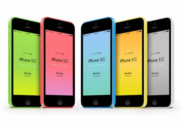 iPhone5S Colorful Mockups