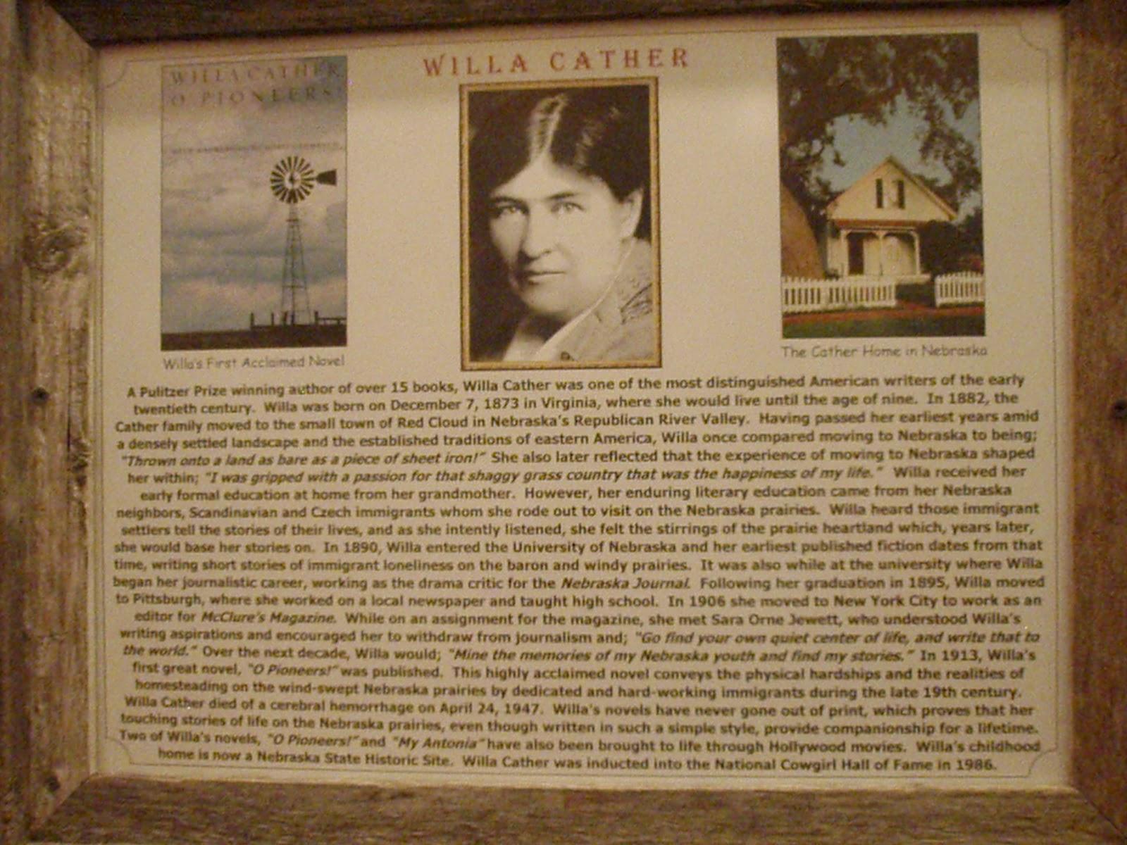 willa cather writing comparison
