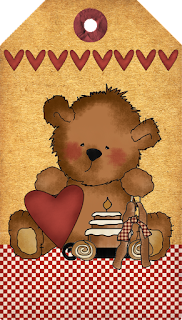 Country Heart Tedd Hangtag Primitive Freebies