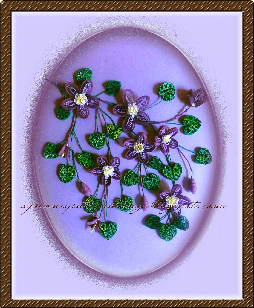 A journey into quilling paper crafting quilled flower frame 3d quilled flower frame 3d flowers clematis trail mightylinksfo