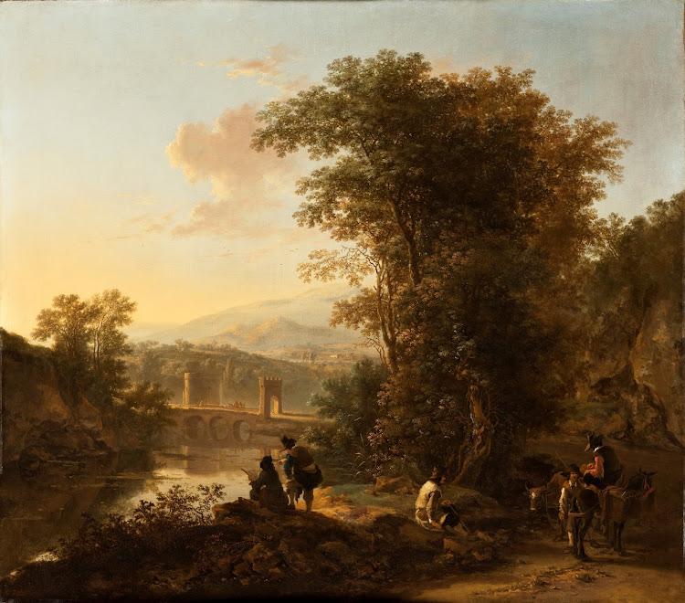 Jan Both - Landscape with a Draftsman