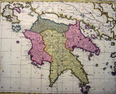 Λεπτομερής χάρτης του Βασιλείου της Πελοποννήσου